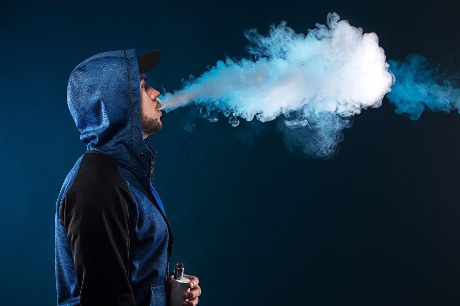 口から出る煙の量を少なくする
